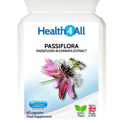 Passiflora (Passionflower) 1000mg Capsules | SLEEP | ANXIETY | STRONG DOSAGE