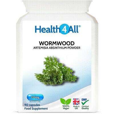 Health4All Wormwood 250mg Capsules | PARASITE DETOX CLEANSE | 100% Vegan