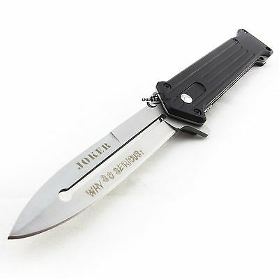 "7.5"" JOKER SPRING ASSISTED FOLDING STILETTO POCKET KNIFE Blade Two Tone Switch"