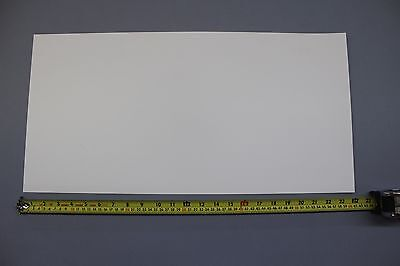 ".030"" THICK SNOW WHITE POLYPROPYLENE PLASTIC SHEET 12"" x 24"" LIGHT DIFFUSING"