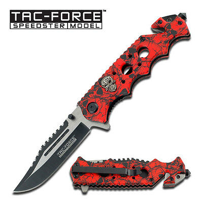 "8"" TAC FORCE SPRING ASSISTED FOLDING KNIFE Blade pocket open switch"
