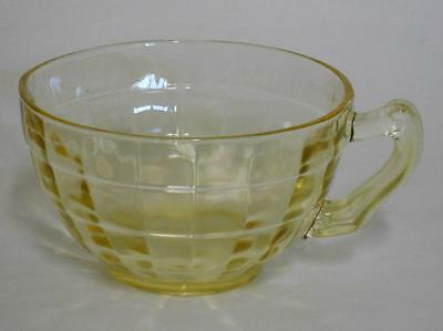 Anchor Hocking ~ Block Optic ~ Yellow Depression Glass Coffee Cup