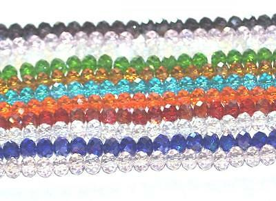 100 Handmade Faceted Crystalized Crystal Ab Plated Glass Craft Beads - Rondelle