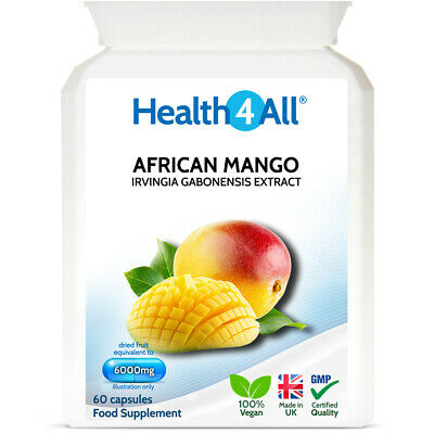 African Mango SUPER STRENGTH 6000mg Capsules | APPETITE SUPPRESSANT | FAT BURNER