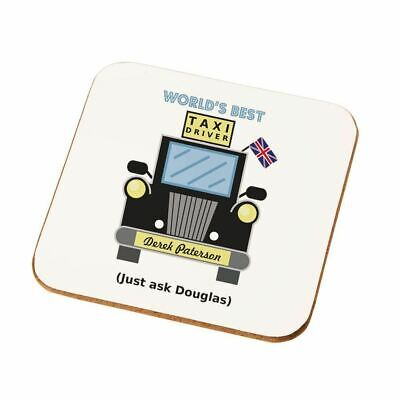 Personalised Worlds Best Taxi Driver Drinks Coaster Him Dad Mum Birthday Gift