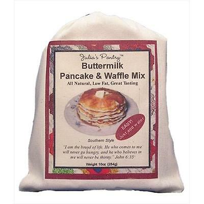 Julias Pantry JP300 Buttermilk Pancake & Waffle Mix Cloth Bag 10oz, Pack of 4