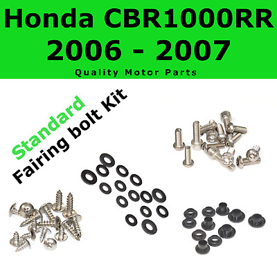 Fairing Bolt Kit body screws fasteners for Honda CBR 1000 RR 2006 2007 Stainless