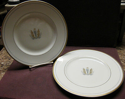 4 SYRACUSE CHINA GOVERNOR CLINTON PATTERN DINNER PLATES 10 1/8""