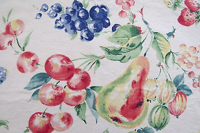 Fruit Salad Cloth Placemats - Set of 4 - Muted Colors - Strawberries Blueberries