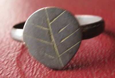 Authentic Ancient Artifact   Unidentified BRONZE RING SZ: 9 US 19mm 11945