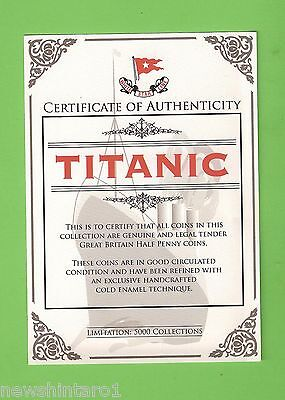#d170. 2012 Titanic Disaster Centenary Enameled Coin Set