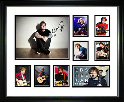 New Ed Sheeran Signed Framed Memorabilia
