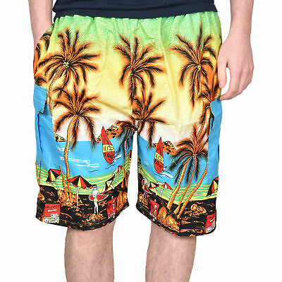 True Face Mens New Hawaiian Printed Holiday Beach Hula Loud Fancy Dress Shorts