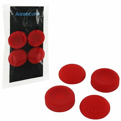 ZedLabz concave convex silicone rubber thumb grips for PS4 Playstation 4 - red