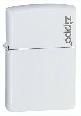 Zippo Windproof White Matte Lighter With Logo, 214ZL, New In Box