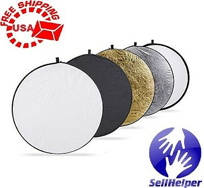 Neewer 110CM 43-Inch 5-in-1 Collapsible Multi-Disc Light Reflector Free Shipping
