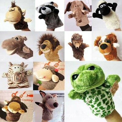 Pretty Cute 13 Cartoon Animals Dolls Toys Plush Kids Glove Hand Puppet Soft