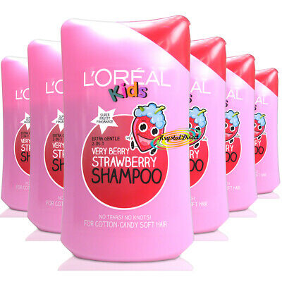 6x L'Oreal Loreal Kids Very Berry Strawberry Shampoo 250ml