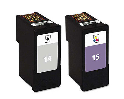 Non-OEM Replaces No 14 & 15 For Lexmark X2670 Z2300 Ink Cartridges