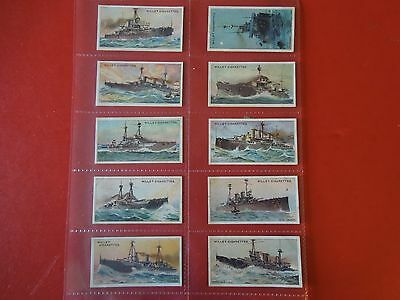 1910 Wills THE WORLDS DREADNOUGHTS battleships set 25 cards Tobacco Cigarette