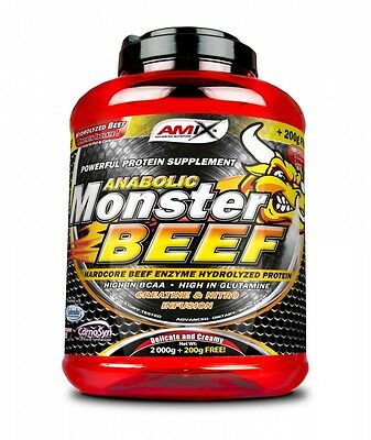 Amix Anabolic Monster BEEF 90% 2.2kg Hydrolized Protein Isolate BCAA  CHOCOLATE