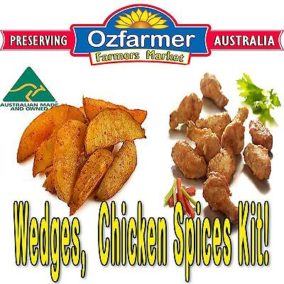 1 x Jerky Spices Home Made Chicken Wings Potato Wedges Taste of the South