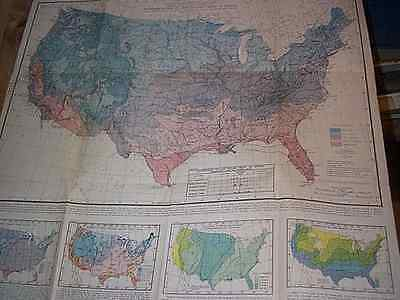 The Gardner's Map Of The Growing Seasons For The United States 1938