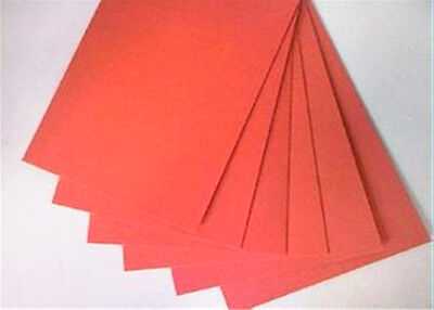 6pcs,1.0mm*120mm*120mm,Insulation gasket Red vulcanized Fiber Insulating Paper