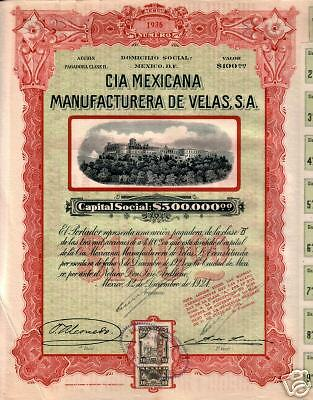 Xxx-Rare Ravishing Red 1921 Mexico Bond! Government Palace/revenue Stamp/coupons