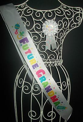 Baby Shower Grandma  Sash & Badge - Rosette Award