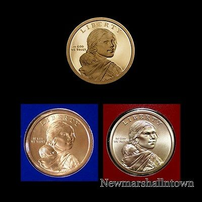 2015 P+D+S Native American Sacagawea Mint Proof Set ~ PD in Original Mint Wrap