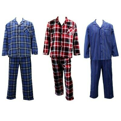 NEW Men's Soft Cotton Flannelette Pajamas Pyjamas PJ Set Two Piece