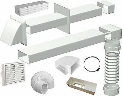"Venting Kits & Ducting 100mm 4"" Inch Systems - Cooker Hoods - Tumble Dryers"