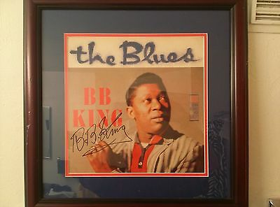 B.B. King Autographed Framed LP Hand Signed Record Album By BB King B B King