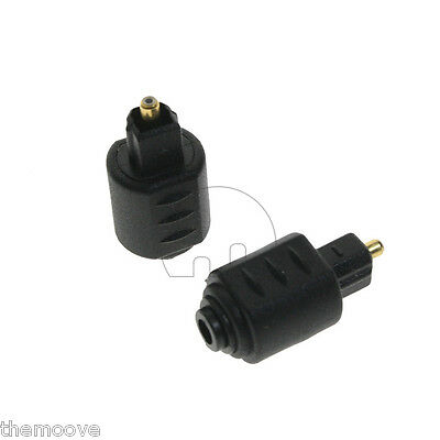 2x Mini Optical Audio Adapter 3.5mm Female Jack Plug to Digital Toslink Male NEW