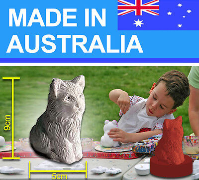 Sitting Cat latex Mould/Mold plaster/candle/soap 1005