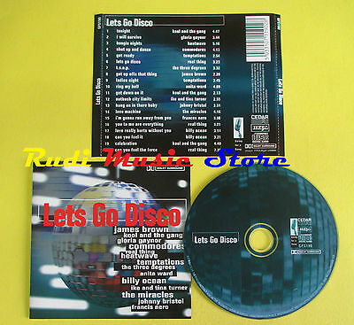 CD LETS GO DISCO compilation 2000 GAYNOR TEMPTATIONS JAMES BROWN (C6) no mc lp