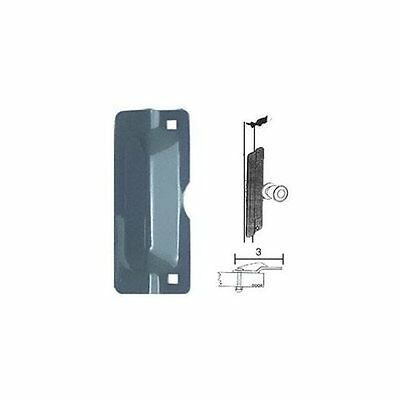 "CRL 11"" Bronze Latch Shield for Flush Mounted Doors"