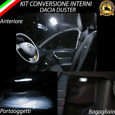 Kit Led Interni Dacia Duster Restyling Plafoniera + Luce Cortesia +Bagagliaio
