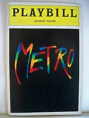 METRO Playbill IMPORTED POLISH MUSICAL Flop OPENING NIGHT NYC 1992