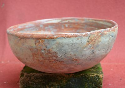 Nice Pre Columbian large bowl with red painting, Aztec III, Mexico