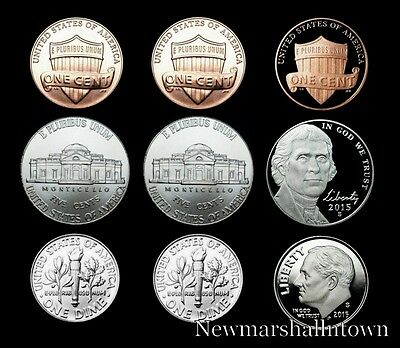 2015 P+D+S Lincoln Penny, Jefferson Nickel, Roosevelt Dime ~ Mint Proof Set