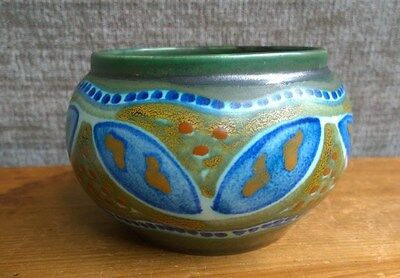 Antique PZH Gouda Vase In MASSA PATTERN, Early 20th Century, Signed, Excellent!