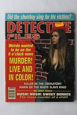 Detective Files Vol 32 #6 November 1988 Vintage Crime Magazine Articles Murders