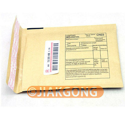 Paper bubble bag with postal insurance Tracking number
