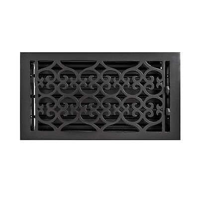 Naiture Cast Iron Wall Register Old Victorian Style In 9 Sizes