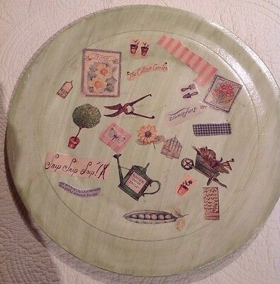 Handmade Decoupage Wooden Plate 1997 Beyond The Garden