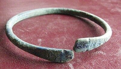 Authentic Ancient Lake Ladoga VIKING Artifact   BRONZE BRACELET  E99