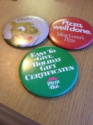 Pizza Hut Vintage Badges Buttons Includes Ducky Land Before Time Advertising