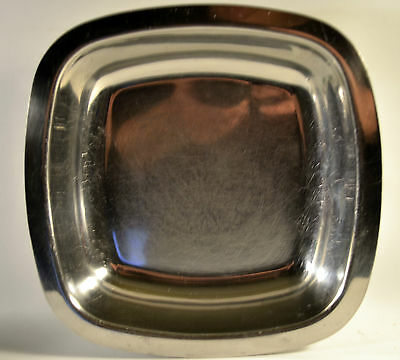 Vintage Stainless Steel Square Serving Bowl Dish